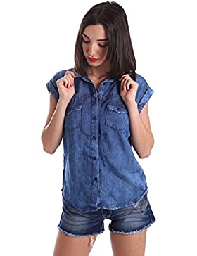 Pepe jeans PL302113 Camicia Donna Blu M