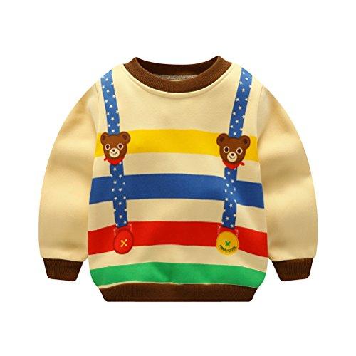 ARAUS ARAUS Baby Sweatshirt Winter Plus Samt Unisex Pulli Cartoon 3M-5 Jahre
