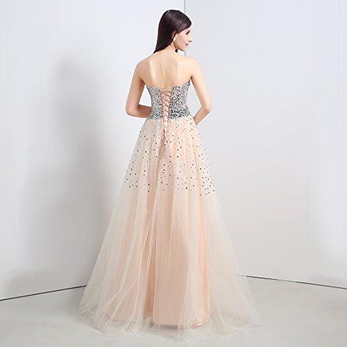 Bridal_Mall -  Vestito  - linea ad a - Senza maniche  - Donna Arancione