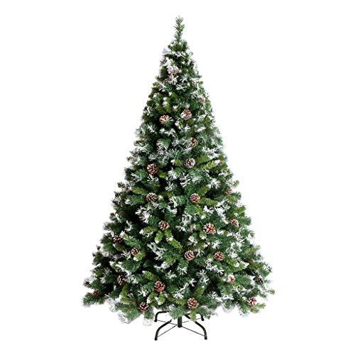 Albero di Natale Christmas Tree - Christmas Decoration Snowflake Albero di Natale Cono di Pino 1.2/1.5/1.8/2.1 M Luxury Encryption Albero Nudo Automatico (Colore : Green, Dimensioni : 150cm)
