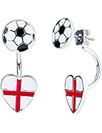 England National Flag 8mm St George's Stainless Steel Earrings