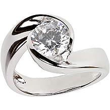 Zirkonia 925 Sterlingsilber Damen-ring Verlobungsring