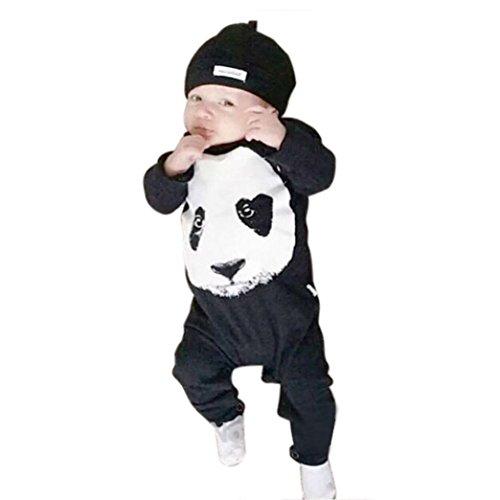 Internnet Baby Strampler Panda lange Hülsen Baby kletternde Kleidung (70) (Hübsche Kleider Für 10 Jährigen)