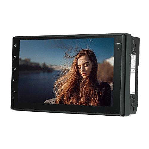 Kkmoon autoradio 2 din gps universale, 7 pollice android 7.1 autoradio con navigatore, fhd 1080p schermo di tocco in-dash stereo radio auto, con mirror link wifi bt aux tf/usb fm/am, ddr3 1gb, 16gb