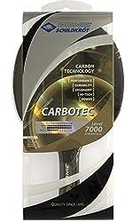 Donic-Schildkröt Tischtennisschläger CarboTec 7000, 100% Carbon, 2,3 mm Schwamm, Liga QRC - ITTF Belag, konkav, 758216