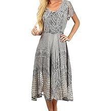 Vestido de hadas bordado sable de Sakkas