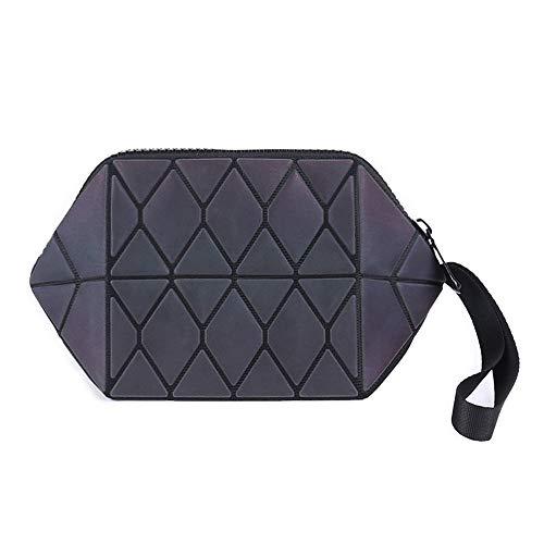 Dfghgfdjghf Kosmetiktasche, Kreative Leuchtende Rhombische Geometrische Kosmetiktasche, Verfärbte Unregelmäßige Tragbare Aufbewahrungstasche,S -