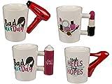 Bada Bing Tasse Beauty Lady Schönheiten Friseur Kaffeebecher Kaffeetasse Küche Büro 4fach Sortiert 71