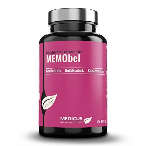 MEMObel von Dr. Krieg Gedächtnis- und Gefäßschutzkapseln, bei leichten kognitiven Störungen und Gedächtnisproblemen, erhöhten Homocystein-Werten, 90 Kapseln -