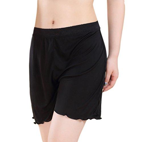 Baymate Womens Tummy Bum Shorts Plus Size Culottes Nightwear Half Slips Test