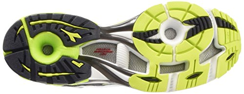 Diadora N-7100-1 Scarpe Sportive, Uomo Nero/Verde Lime