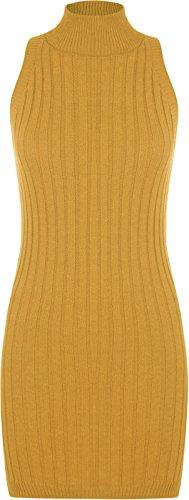 Generic -  Vestito  - fasciante - Senza maniche  - Donna Mustard