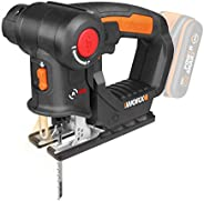 WORX 20V Axis Multi-Purpose Saw, many blades, color box
