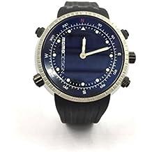 Reloj Momo Design Hombre md182exp-11al cuarzo (batería) acero quandrante negro correa Caucciu '