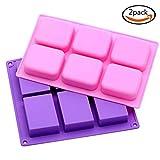 6 Mulden kleine Silikon Form für hausgemachte handwerkliche, Seife Form, Kuchenform, Eiswürfelbehälter