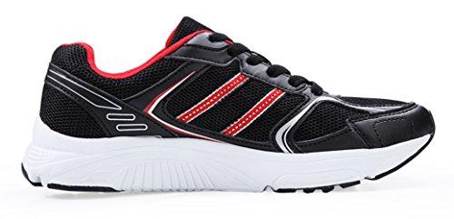 Santiro Donna Calzature Sportive Traspirante Scarpe da Ginnastica Basse Outdoor Tennis da Passeggio Sneakers. Nero