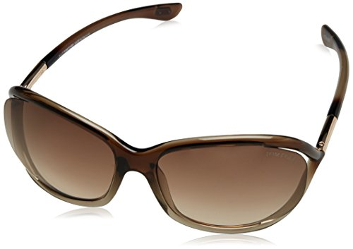 Tom Ford Damen FT0008 38F 61 Sonnenbrille, Gold (Bronzo/Altro/Marrone Grad),