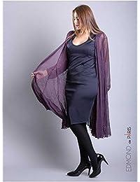 Edmond Boublil - Vêtement Femme Grande Taille Gilet Over Edmond Boublil Violet