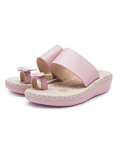 CHAOXIANG Pantofole Da Donna Antiscivolo Ciabatte Piatte Sandali Da Surf Nuova Estate Ciabatte Spiaggia ( Colore : Bianca , dimensioni : EU35/UK3/CN35 ) Rosa