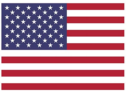 Samunshi® Usa Flagge Aufkleber Autoaufkleber in den Nationalfarben in 6 Größen (20x14cm)