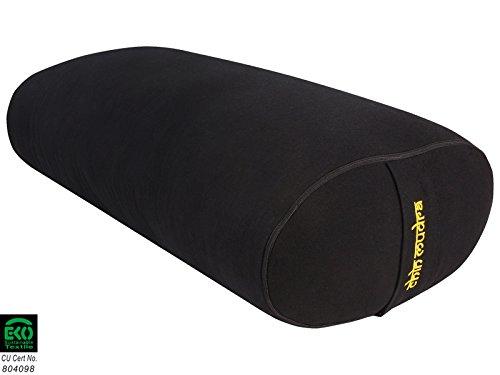 Bolster Ovale 100 % Coton Bio 60 cm x 15 cm x 30 cm - Noir