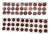 #9: My.Shop Big Maroon Dark Red Bindis Velvet Sticker Bindi Tikka kumkum for Women Ladies