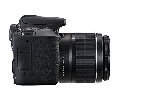 Canon EOS 200D + EF-S 18-55mm f/3.5-5.6 III Juego de cámara SLR 24.2MP CMOS 6000 x 4000Pixeles Negro - Cámara digital (24,2 MP, 6000 x 4000 Pixeles, CMOS, Full HD, Pantalla táctil, Negro)