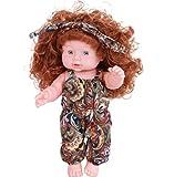 DYRCJ Spielzeug Simulation Baby Puppe Spielzeug Interaktive Spiel Puppe Reborn Puppe Schwarze Blume...