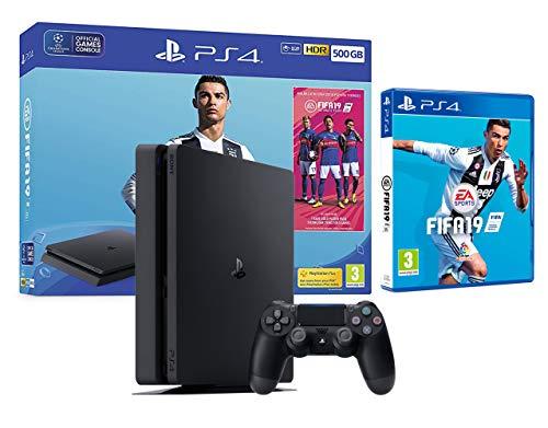 PS4 Slim 500GB schwarz Playstation 4 Konsole + FIFA 19