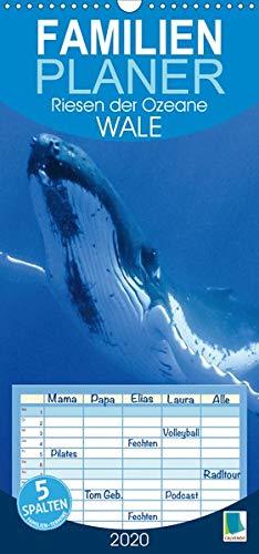 Wale: Riesen der Ozeane (Wandkalender 2020 , 21 cm x 45 cm, hoch): Wale: In den Tiefen der Ozeane, Familienplaner 5 Spalten (Familienplaner, 14 Seiten ) (CALVENDO Tiere)