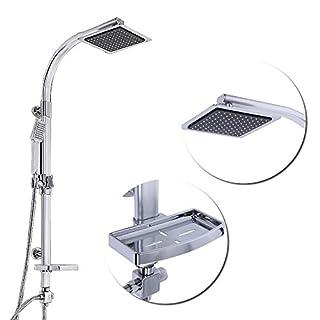 HENGMEI Duschsäule Duschpaneel Regendusche mit wandhalterung Set-mit duschkopf handbrause-duschstange mit brause (Type A)