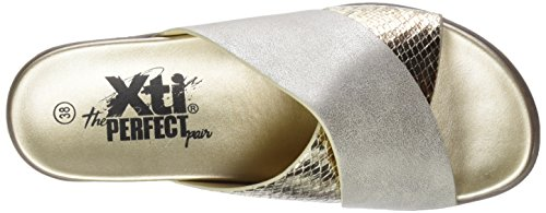 XTI 47941, Sandali Punta Aperta Donna Oro (Gold)