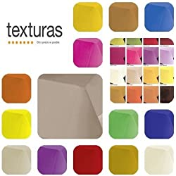 TEXTURAS SELECTION - Mantel Tela TEFLON Impermeable LISO TOP COLORS ( Varios Tamaños Disponibles ) (Rect. 140x180 cms, Naranja)