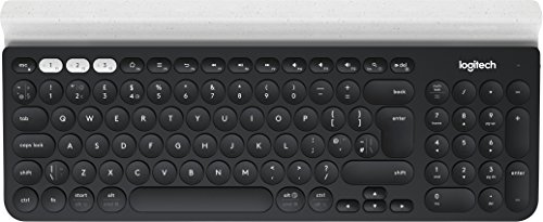 Logitech K780 Tastiera Multidispositivo Wireless per Windows, Mac, Chrome OS, iOS, Android, QWERTY, Layout Italiano, Grigio Scuro/Bianco