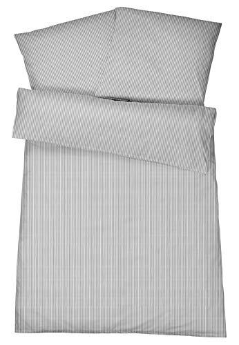 Carpe Sonno Luxuriöse Mako Brokat Damast-Bettwäsche in Exklusiver Hotelqualität aus 100% Baumwolle Schlafkomfort – Hotel-Bettwäsche Set mit Kopfkissen-Bezug und edlen Damast-Streifen