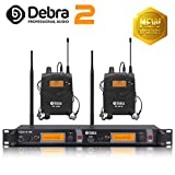 Beste Klangqualität! Professionelles UHF-In-Ear-Monitor-System Dual Channel