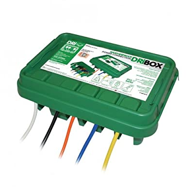 DriBox 285 Elektrischer Anschlusskasten, wasserfest, für den Außenbereich grün von Dri-Box bei Lampenhans.de