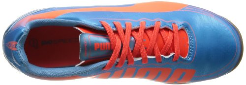 Puma evoSPEED 5.2 IT Jr 102889 Unisex-Kinder Fußballschuhe Blau (sharks blue-fluro peach-fluro yellow 04)