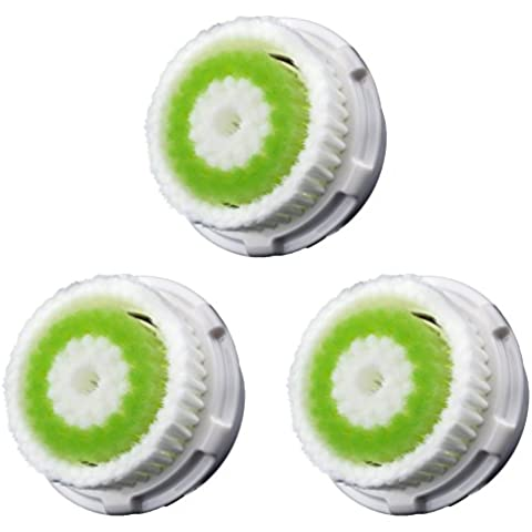 DiamondWhite Facial Cleaning Brush Head Replacement for Clarisonic - For Acne Skin - 3 Pack. Fits Mia, Mia2, Mia3, Aria, Pro, Plus, Alpha Fit, Radiance Cleansing, SMART Profile by DiamondWhite