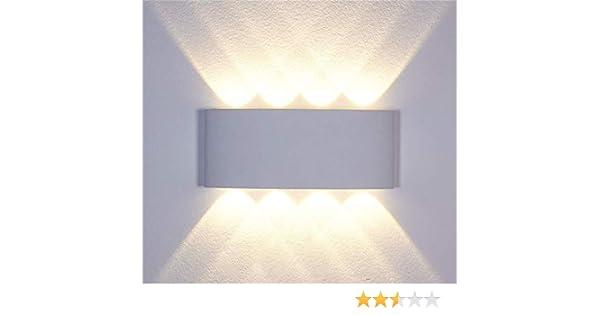 Kaday 8W LED Lampe Murale Interieur D/écoratif L/èche-Murs Aluminium Applique Murale Moderne Lampes de chevet Imperm/éable Appliques Pour Chambre,Couloirs,Escalier,Salon Blanc, Blanc Chaud