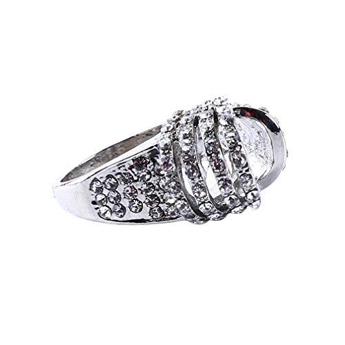 Ogquaton Verlobungsring Charme Frauen Edelstein Saphir Wassertropfen Ringe Hochzeit Schmuck, 6 Hohe Qualität (Sie Für Saphir-verlobungsringe)