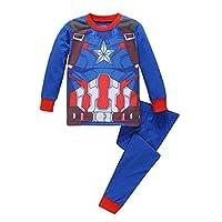Kids 100% Cotton Boys Pajama Superhero Iron Man Captain America Spiderman Girls Pajamas