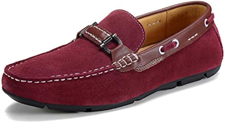 Frühling und Herbst männliche Bohne Schuhe/Herren Freizeitschuhe/ Leder Suede Shoes/Treibende Schuhe