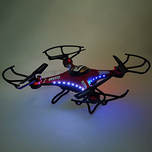 JJRC H8D RC Quadrocopter Drone 2.0MP HD Camera Real Time 5.8G FPV CF Mode Helicopter ferngesteuerte 2.4G 4CH 6 Achsen Headless Modus Aircraft mit LED Lichter Neu - 5