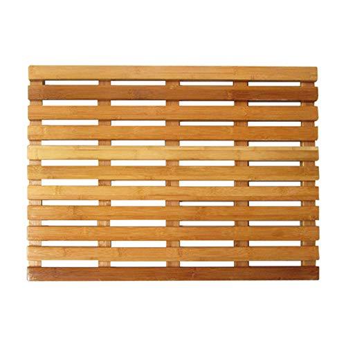VIVOCCarpet Natürlichem Bambus Dusche Matte Bad,Badteppiche Fußmatten Anti-rutsch Schimmelresistent Mehrzweck Für Indoor Outdoor-A 20 * 20in