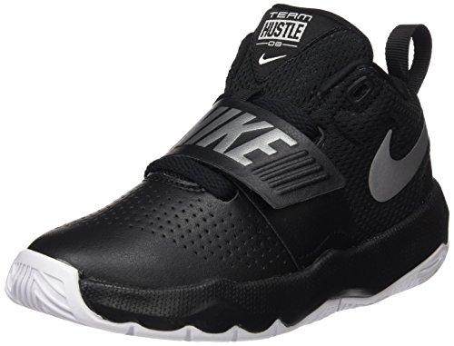 Nike Jungen Team Hustle D 8 (PS) Basketballschuhe, Schwarz (Black/Metallic Silver/White 001), 35 EU