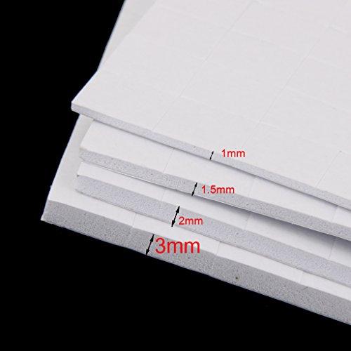 4 Feuilles Mousse Adhésive Plaquettes Double Face Fixatrices Collantes Fabrication De Cartes - 2mm