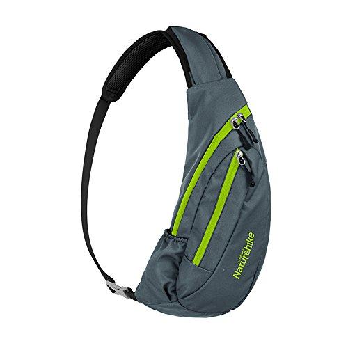 Tentock Sling Rucksack Sling Bag Schulterrucksack Umhängetasche Daypack Crossbag Verstellbarem Schultergurt Perfekt für Outdoorsport, Wandern, Radfahren, Bergsteigen, Reisen(Gray)