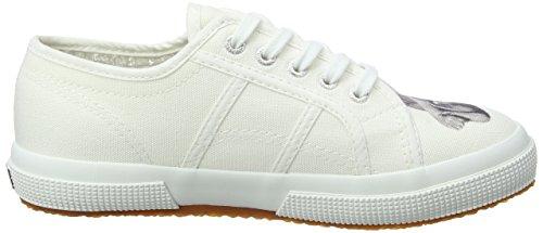 Superga Unisex-Kinder 2750 Fant Animalscotj Sneaker Weiß (White Chimpanzee)