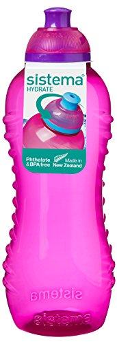 Sistema Hydrate Twist 'n' Sip - Botella de plastico, Rosa, 460 ml, 1 unidad